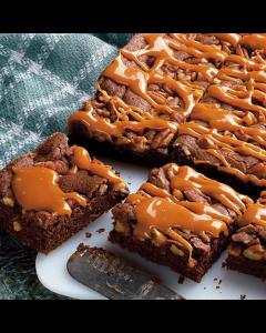 Triple Chocolate Brownie with Pecans & Caramel