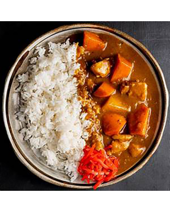 Single Entrée: Japanese Chicken Curry with Vegetables & White Rice