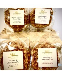 Quinoa Flax Seed Cookies - 5-Cookie Pack