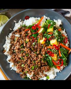 Single Entrée: Korean Seasoned Ground Beef with Noodles & Vegetables